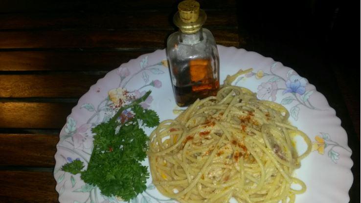 Spaghetti in Pink Sauce