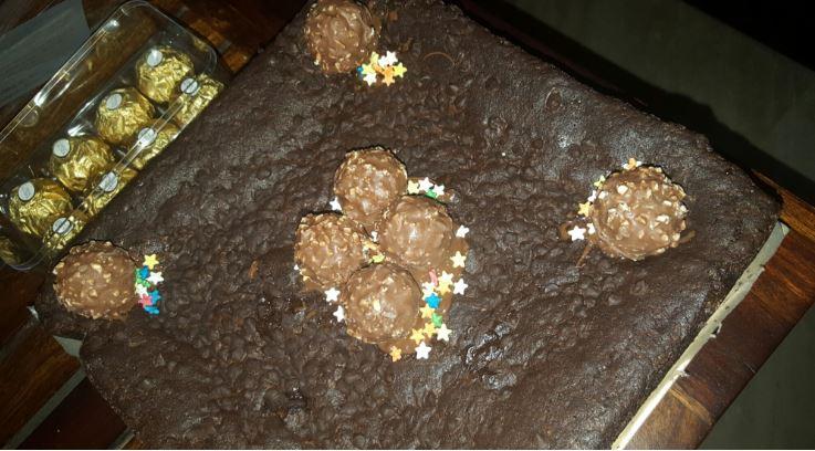 Ferraro Brownie Cake