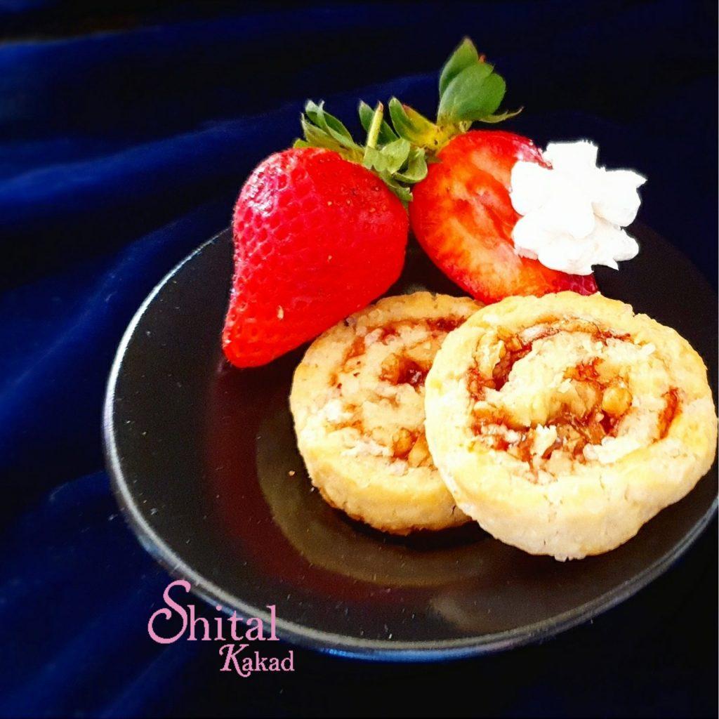 Strawberry Walnut Swirls Recipe