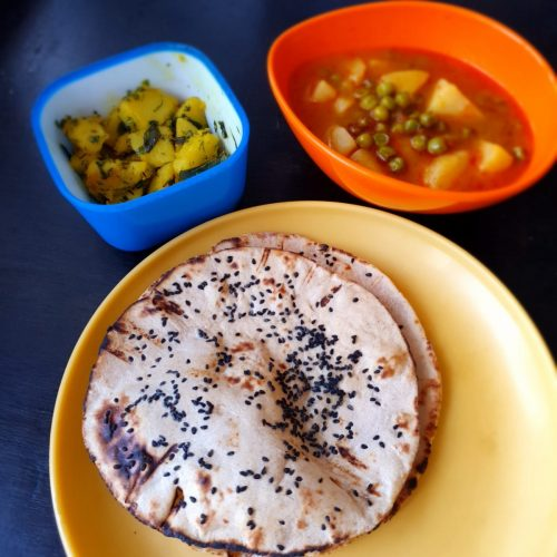 Kulcha with Sabji